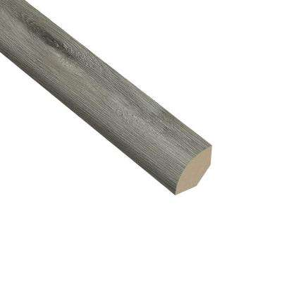 Oak Gray 5/8 in. Thick x 1 in. Wide x 94-1/2 in. Length Vinyl Quarter Round Molding
