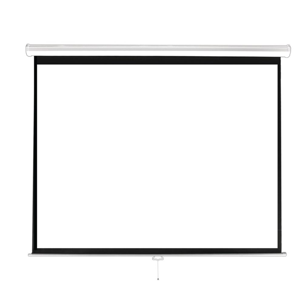 Pyle 84 in. Universal Pull-Down Manual Projection Screen
