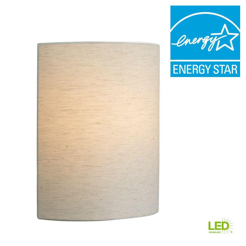 Fiona 1-Light Linen LED Wall Light