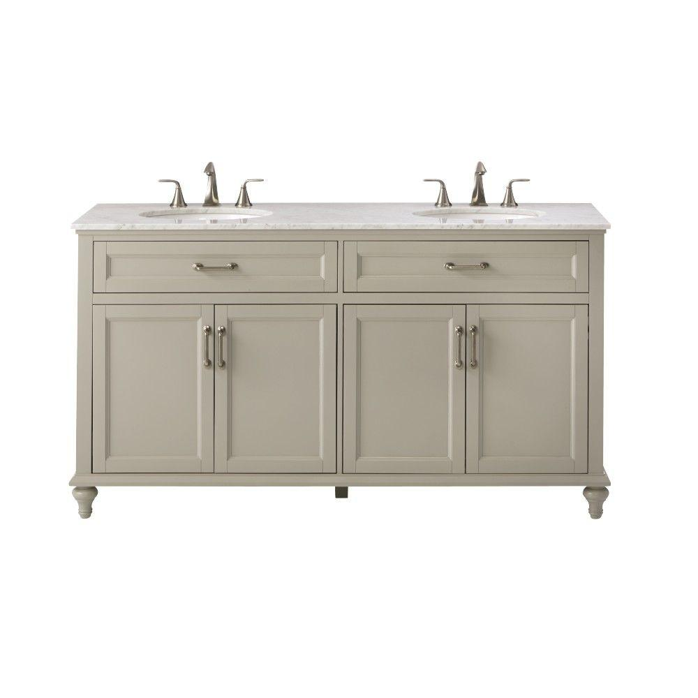 Home Decorators Collection Charleston 61 in. W x 22 in. D Double ...