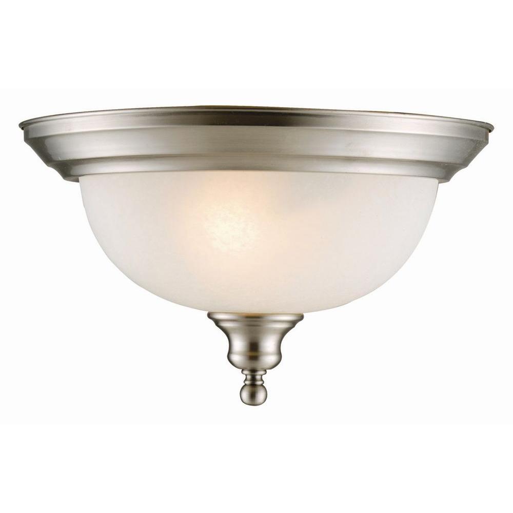 Design House Bristol 2-Light Satin Nickel 2-Dome Ceiling Mount Light