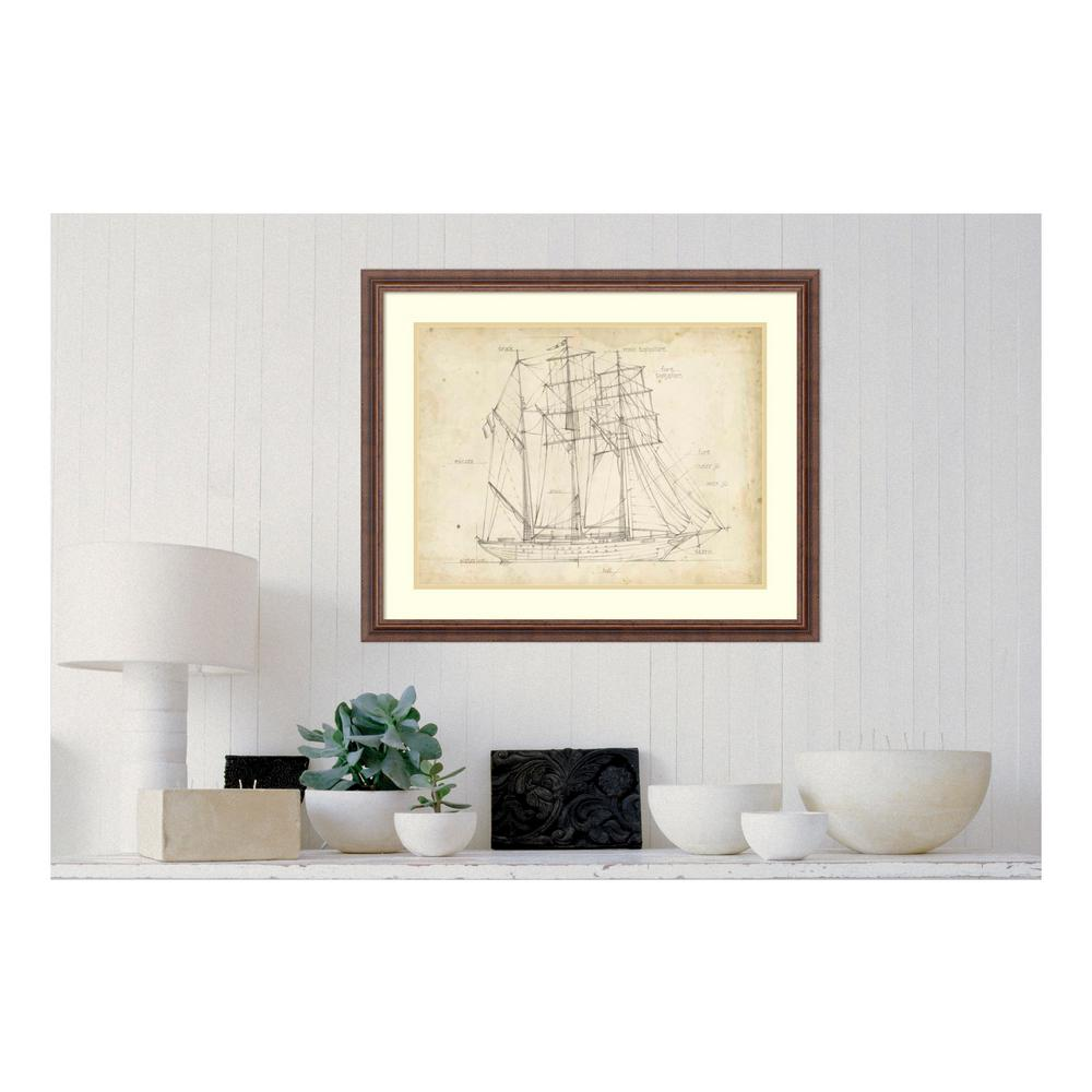 Amanti art 26 in h x 32 in w sailboat blueprint i by ethan amanti art 26 in h x 32 in w sailboat blueprint i malvernweather Gallery