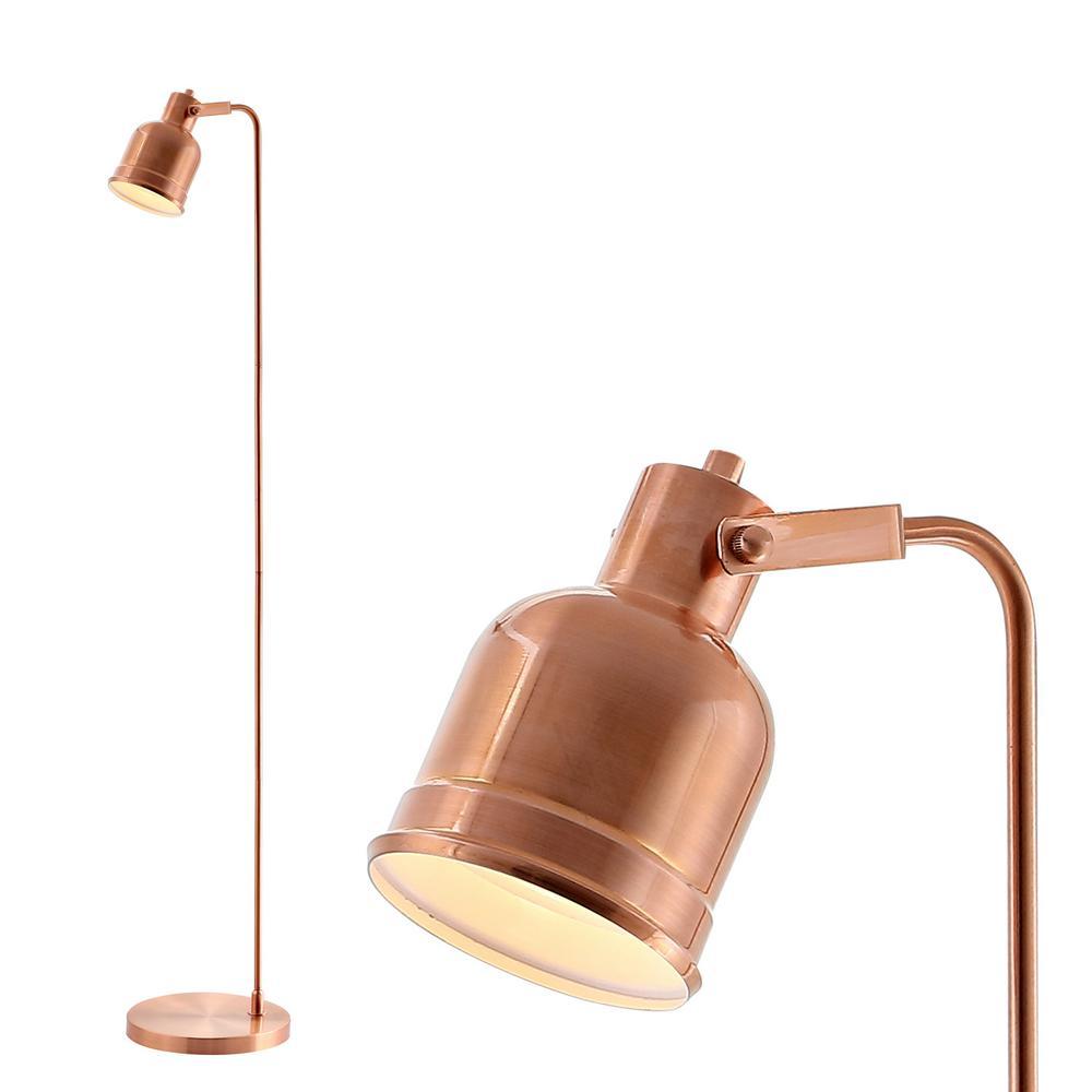 Brandon 57 in. Copper Metal Task LED Floor Lamp