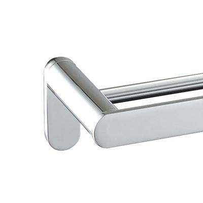 Oval 24 in. Double Towel Bar in Polished Chrome