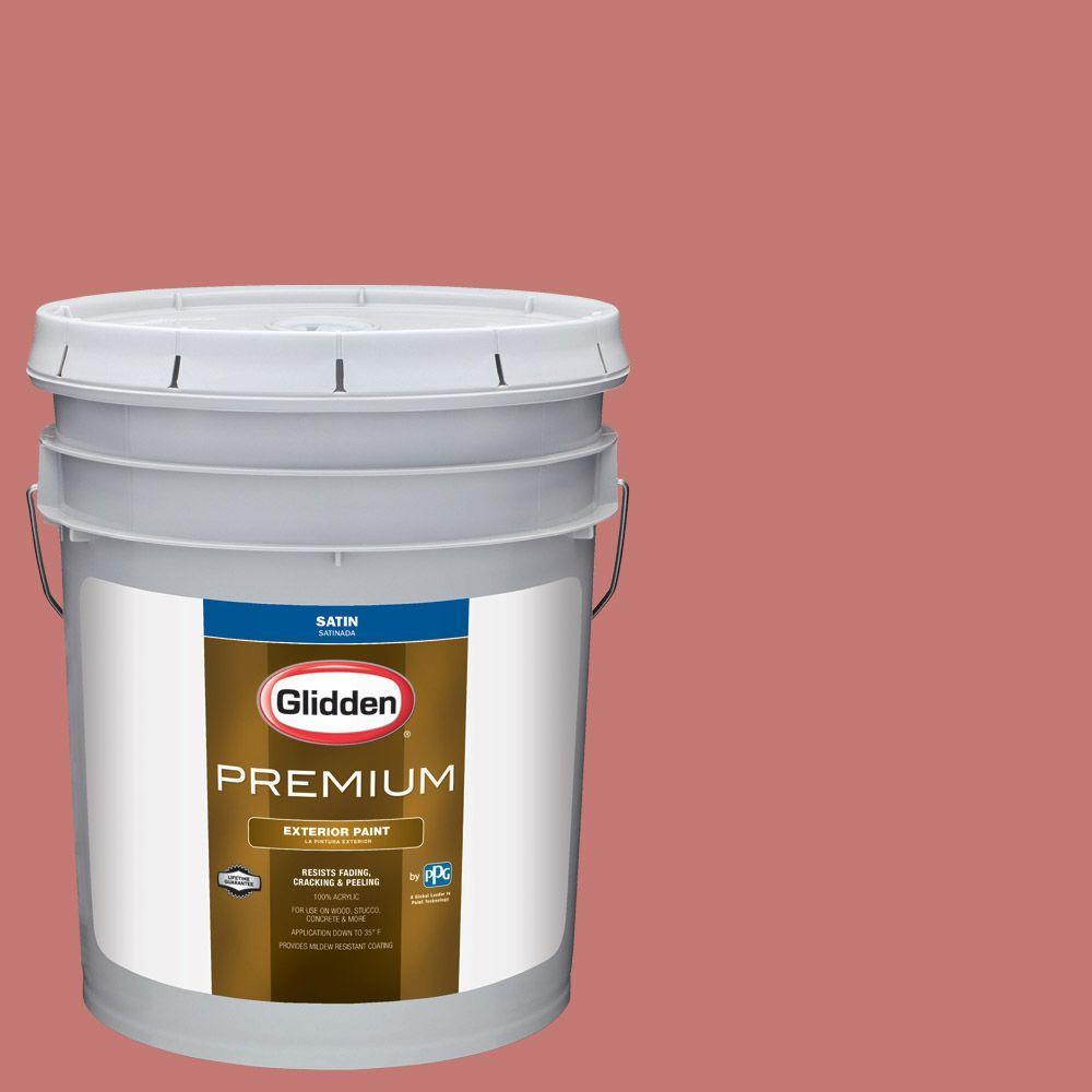Glidden Premium 5-gal. #HDGR62 Madeira Rose Satin Latex Exterior ...