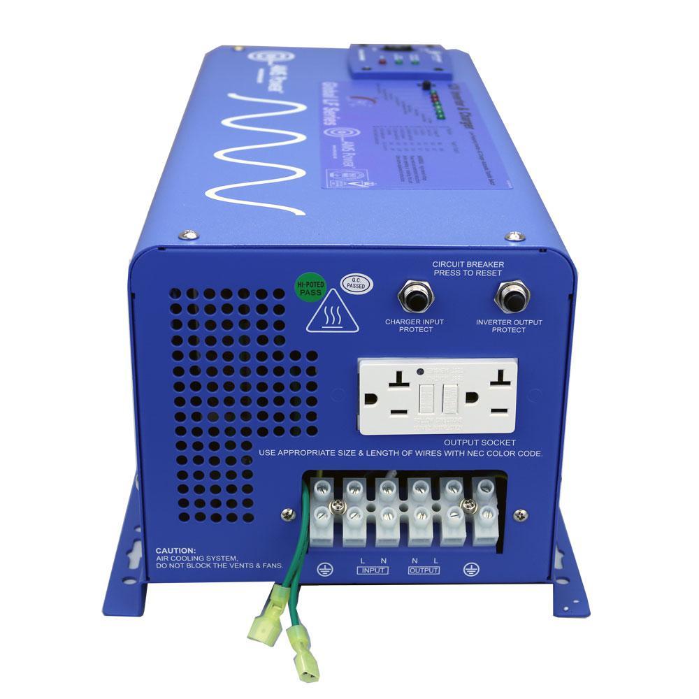 3,000-Watt Pure Sine Inverter Charger 12-Volt DC to 120-Volt AC