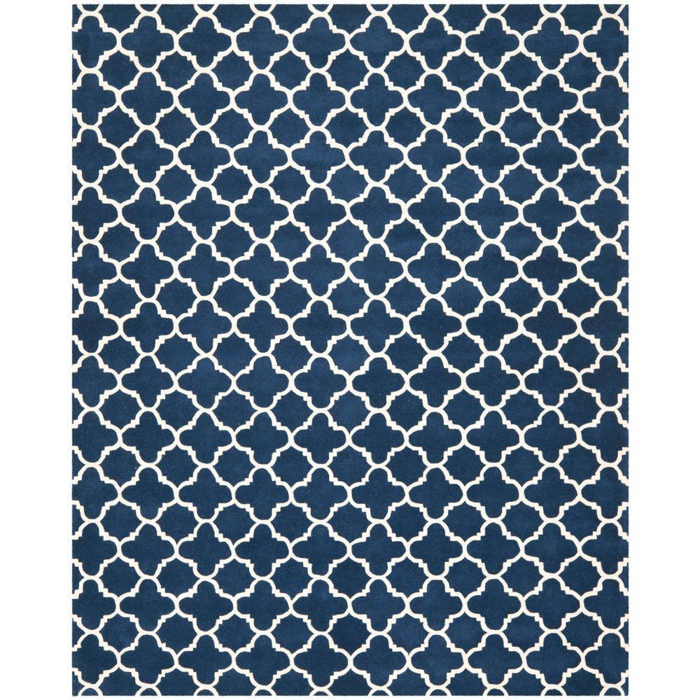 Chatham Dark Blue/Ivory 11 ft. x 15 ft. Area Rug
