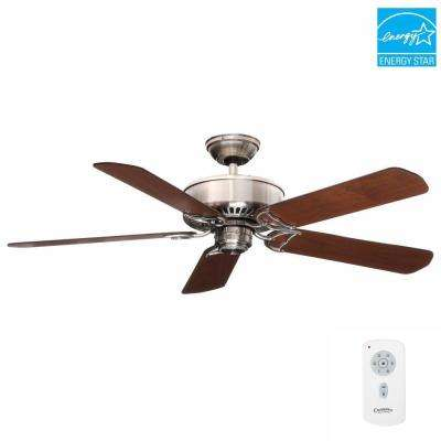 Panama DC 54 in. Indoor Brushed Nickel Ceiling Fan with Remote