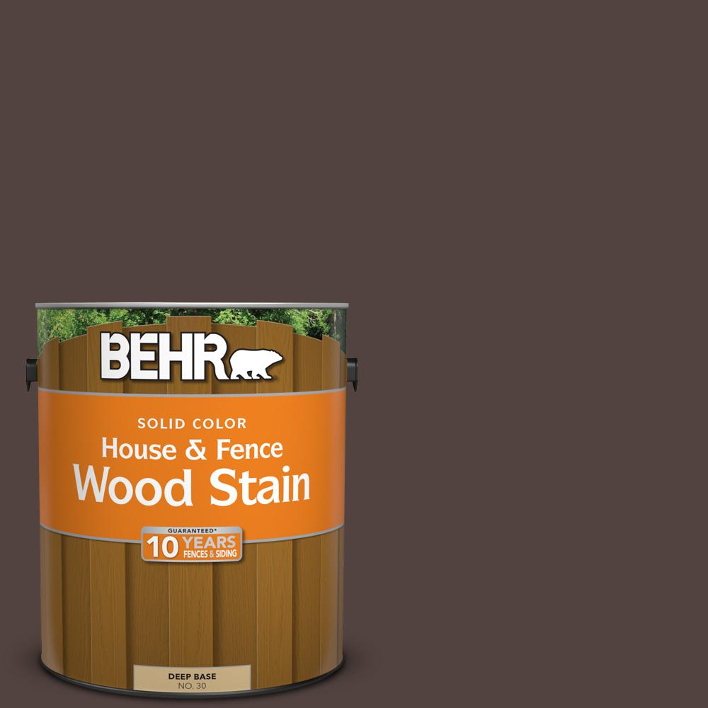1 gal. #PFC-25 Dark Walnut Solid House and Fence Wood Stain