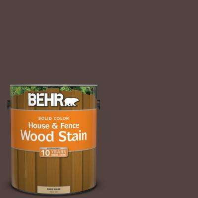 1 gal. #PFC-25 Dark Walnut Solid Color House and Fence Exterior Wood Stain