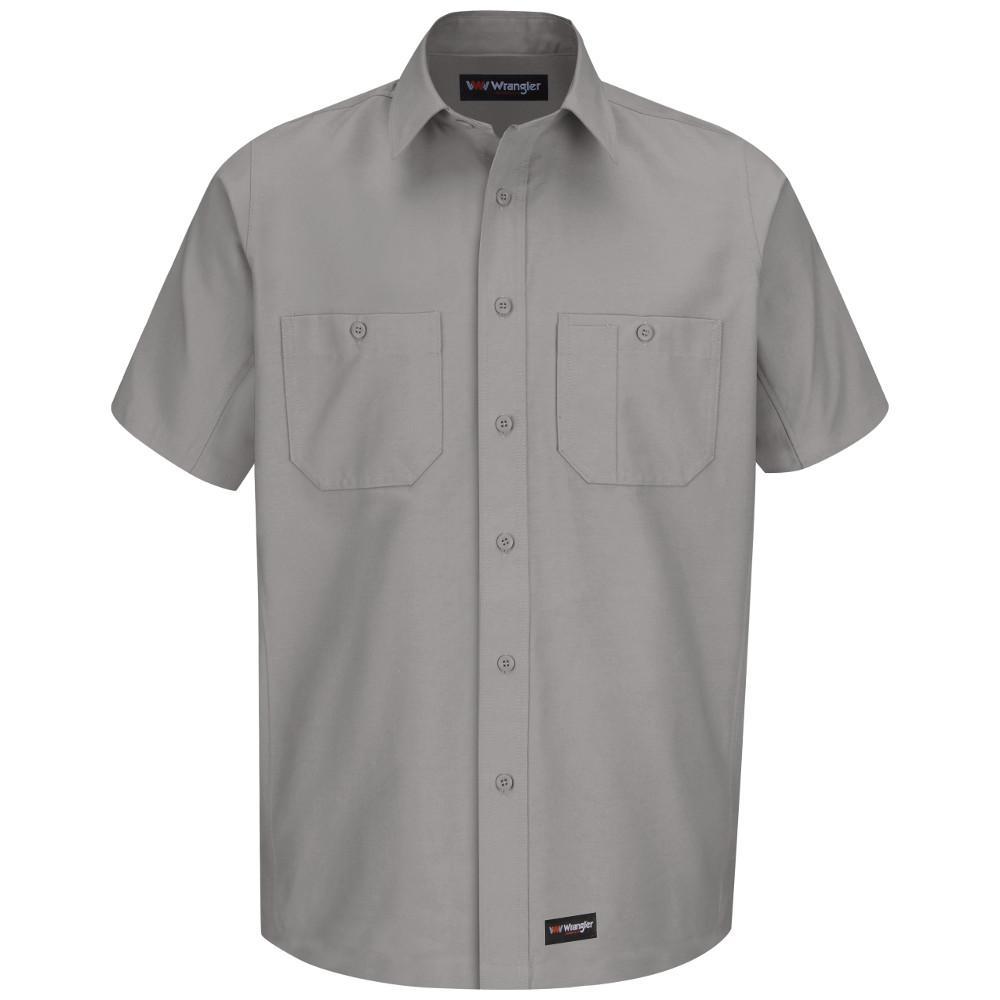 Men's Size 2XL (Tall) Silver Grey Work Shirt