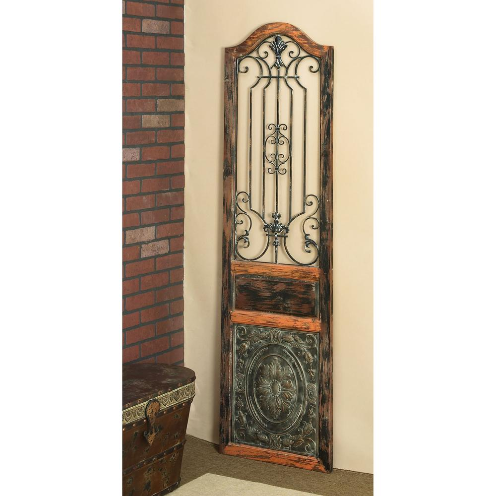 Rustic in arched decorative wall panel the