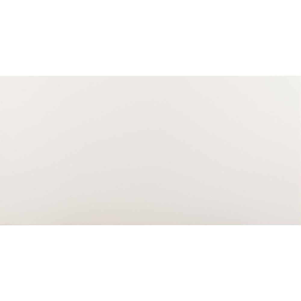 MSI White In X In Polished Porcelain Floor And Wall Tile - 12x24 glossy white tile