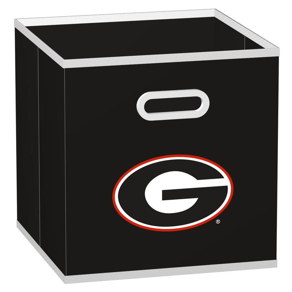 MyOwnersBox College Storeits University of Georgia 10-1/2 in. x 11 in. Black Fabric Storage Drawer