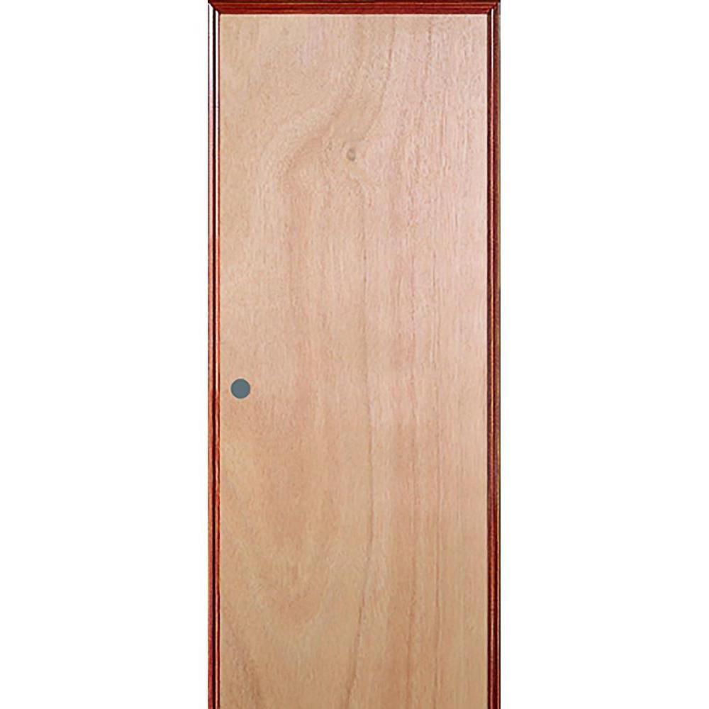 JELD-WEN 24 in. x 80 in. Unfinished Right-Hand Flush Hardwood Single Prehung Interior Door