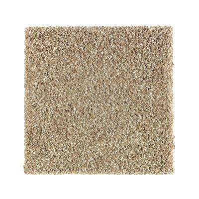 Carpet Sample - Whirlwind I - Color Carrington Beige Texture 8 in. x 8 in.
