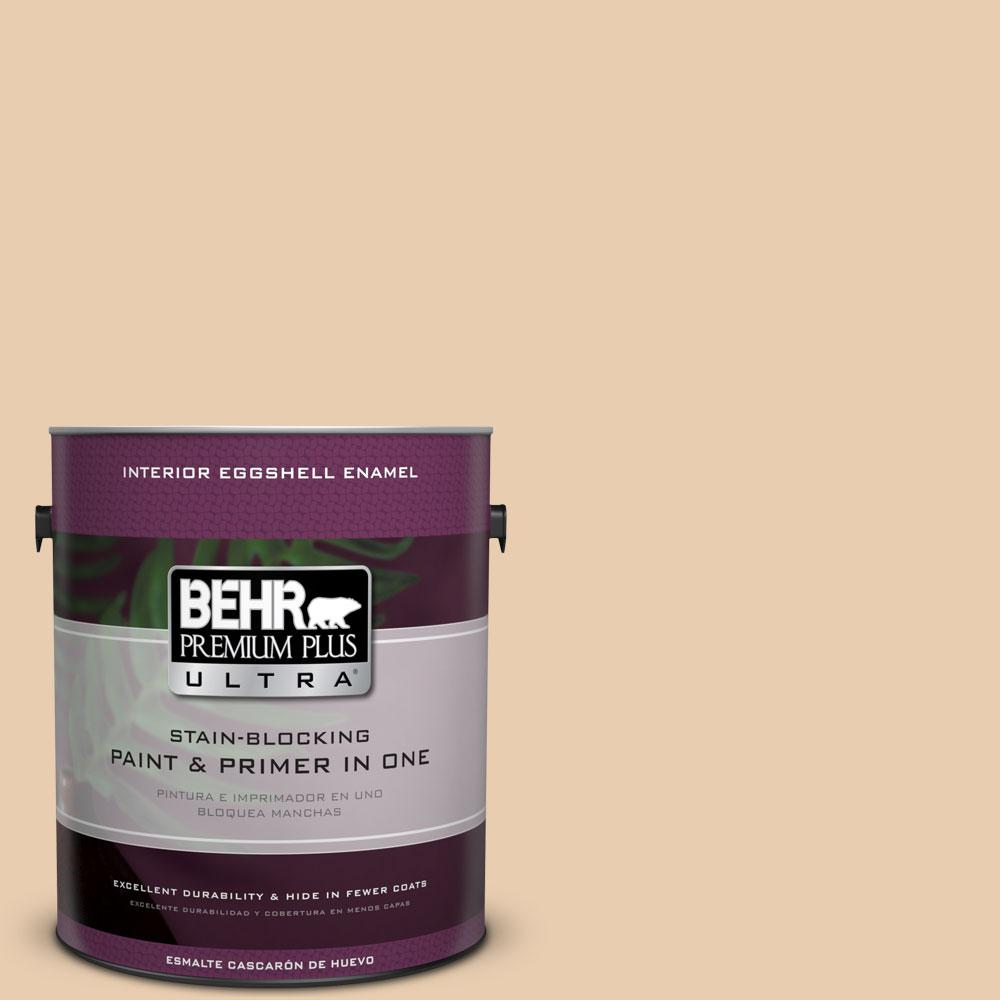 1 gal. #BXC-64 Shortbread Cookie Eggshell Enamel Interior Paint and Primer
