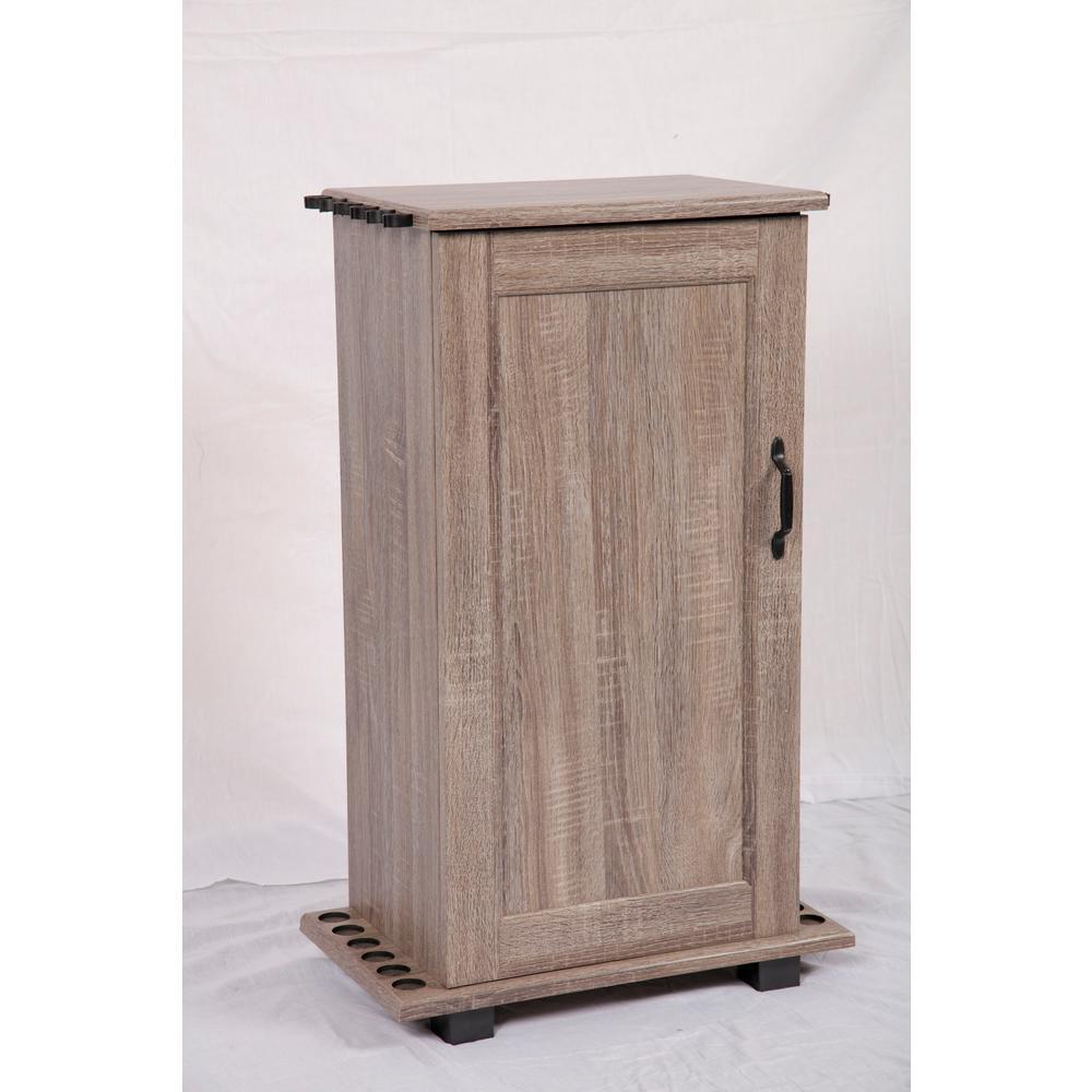 Fishing Storage and Organization Cabinet in Woodgrain Laminate