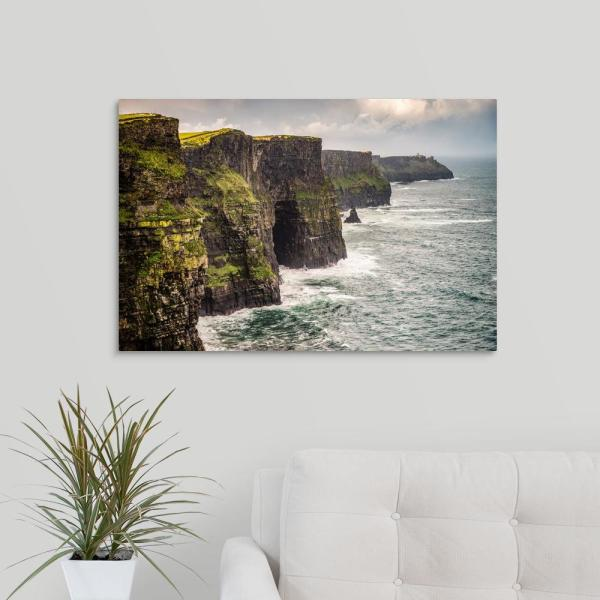 Cliffs Of Moher Landscape Ireland Uk By Circle Capture Canvas Wall Art