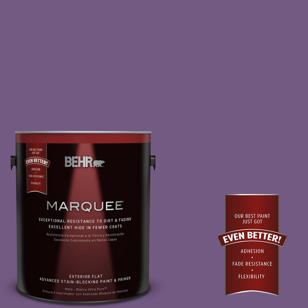 1-gal. #650B-7 Mystical Purple Flat Exterior Paint