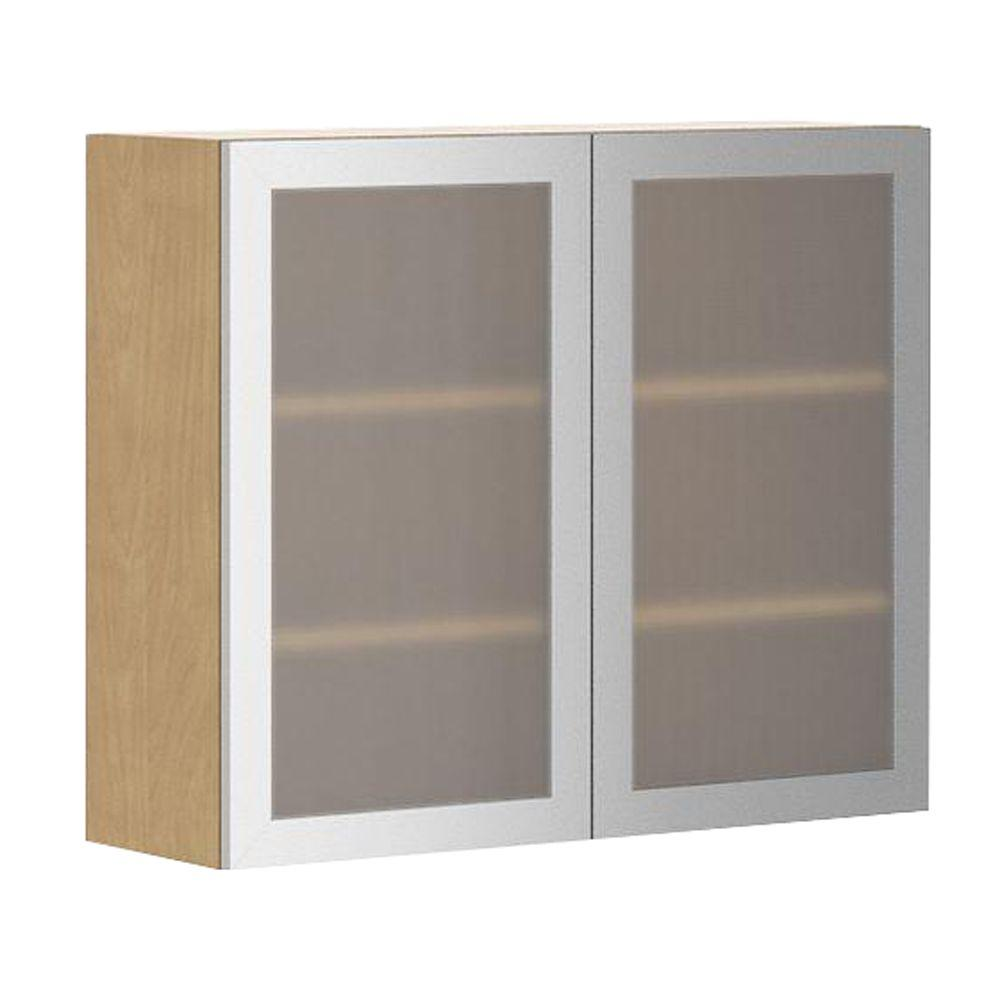 Copenhagen Wall Cabinet In Maple Melamine And Gl