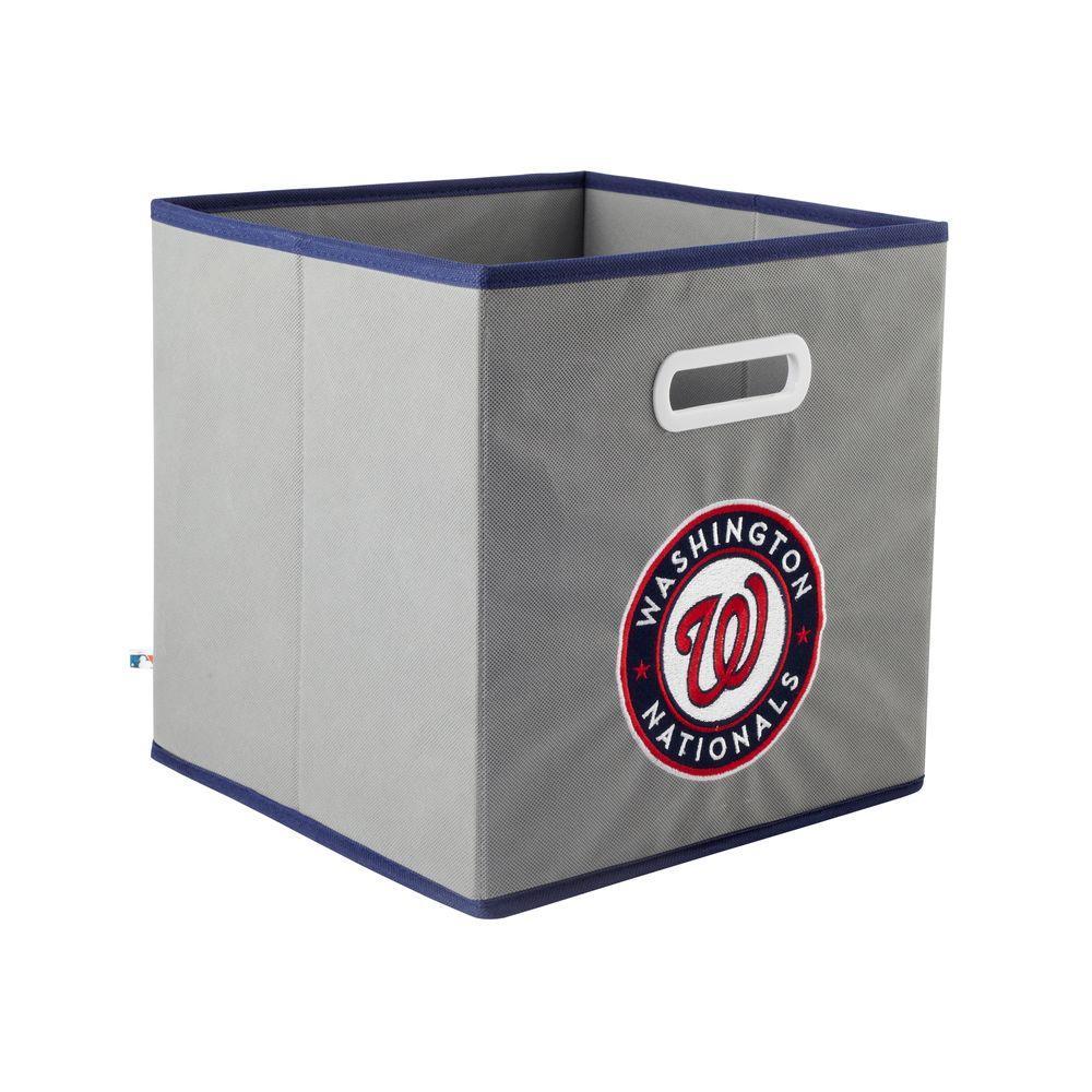 MyOwnersBox MLB STOREITS Washington Nationals 10-1/2 in. x 10-1/2 in. x 11 in. Grey Fabric Storage Drawer