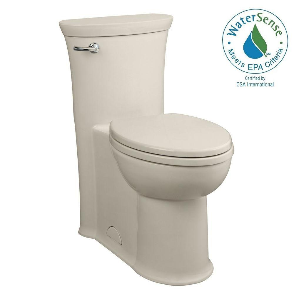 Tropic FloWise 1-piece 1.28 GPF Single Flush Elongated Toilet in Linen