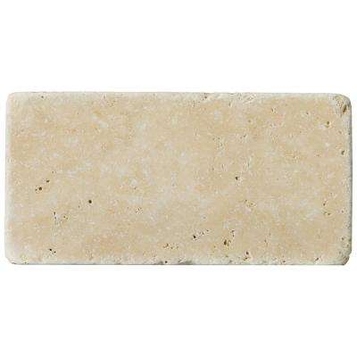 Trav Fontane Tumbled Ivory Classic 2.91 in. x 5.87 in. Travertine Wall Tile