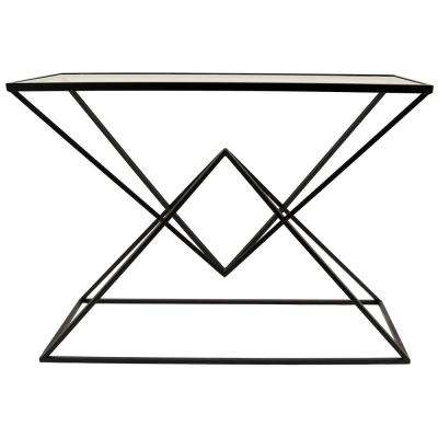 Black Metal/Glass Table