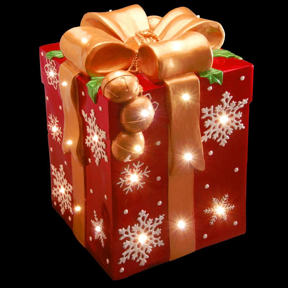 pre lit gift box decoration - Christmas Gift Box Decorations