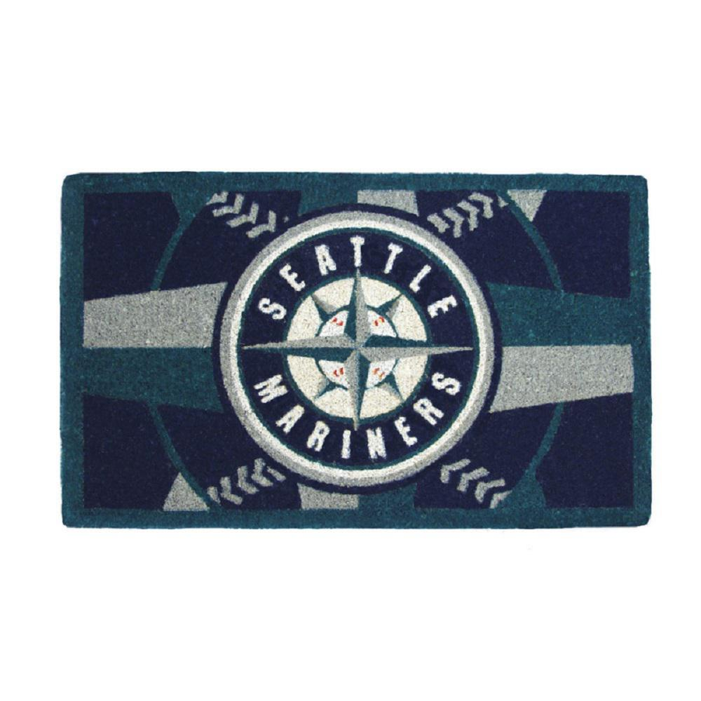 MLB 18 in. x 30 in. Seattle Mariners Bleached Welcome Mat