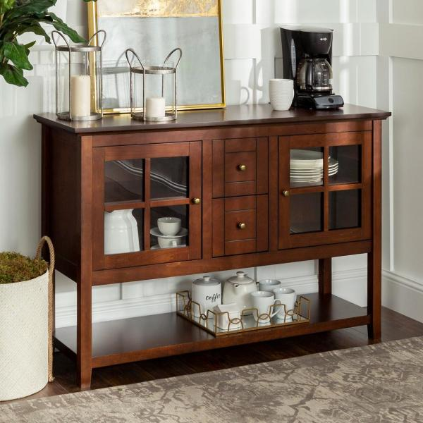 "Home Furniture Company: Walker Edison Furniture Company 52"" Transitional Wood"