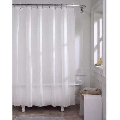 72 in. x 72 in. Premium Frosted Super Heavyweight 10-Gauge Shower Curtain Liner
