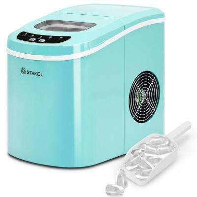 26.5 lb. Portable Compact Electric Ice Maker in Mint Green