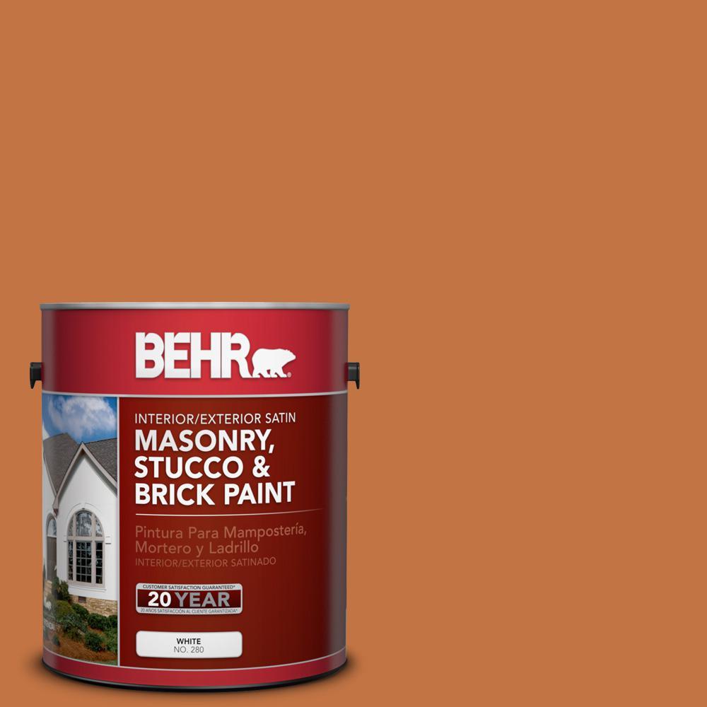 1 gal. #PPU3-02 Marmalade Glaze Satin Interior/Exterior Masonry, Stucco and Brick Paint