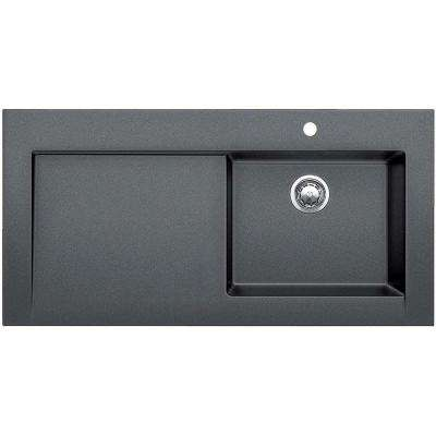 Modex Drop-in Granite Composite 47 in. 5-Hole Single Bowl Kitchen Sink in Anthracite