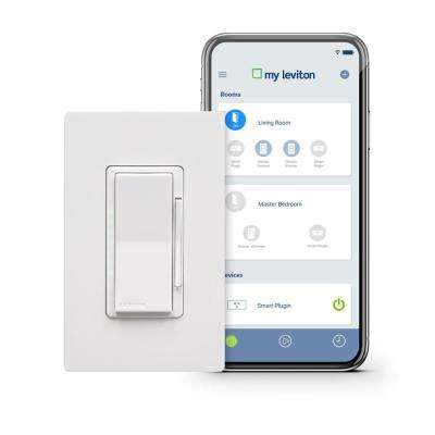 Decora Smart Wi-Fi 1000W Incandescent/450W LED Dimmer, No Hub Required, Works with Alexa and Google Assistant