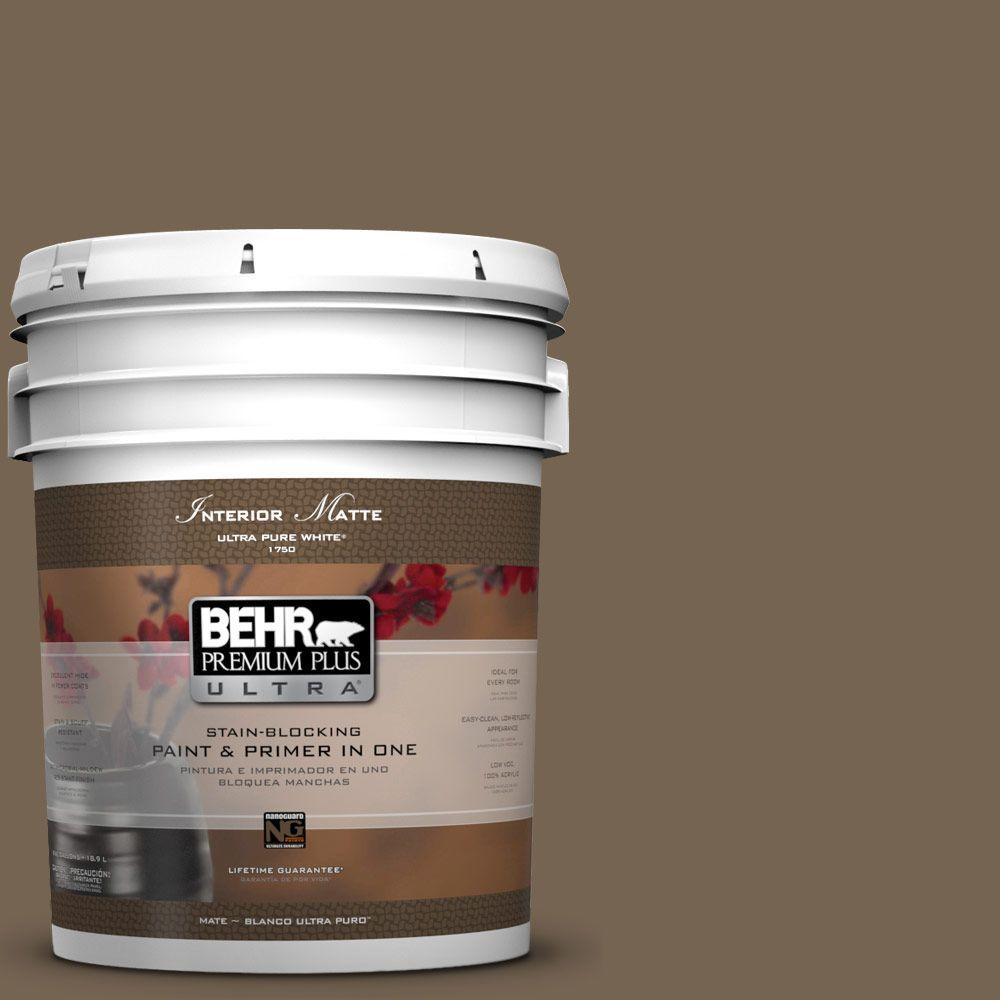 5 gal. #HDC-SM14-4 Tan Bark Trail Matte Interior Paint