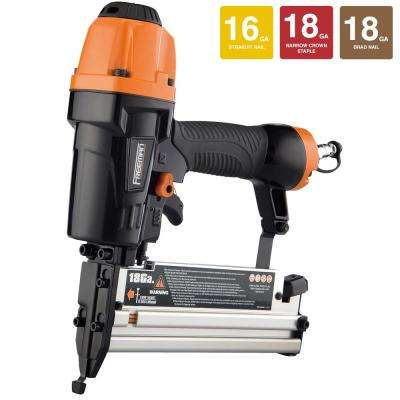 Pneumatic 3-in-1 16-Gauge/18-Gauge Finish Nailer and Stapler