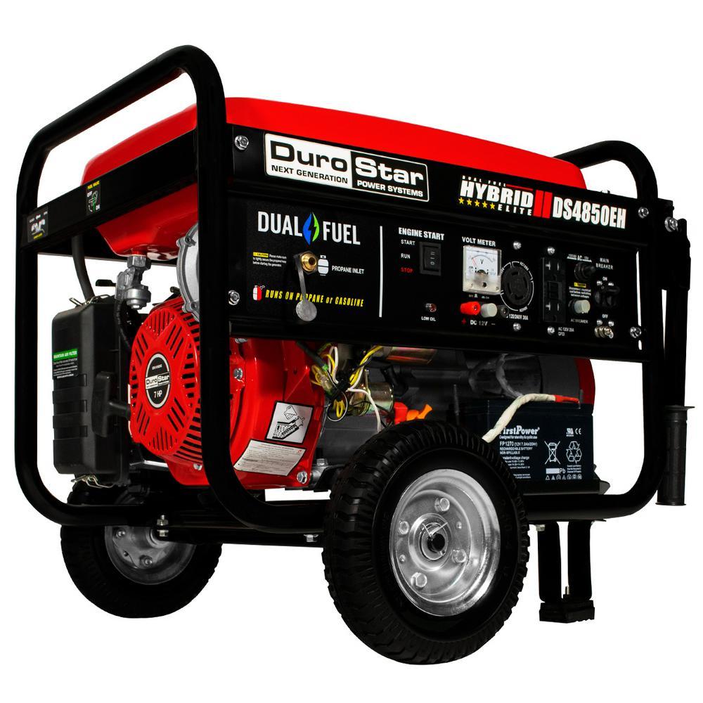 Durostar 3850 Watt Dual Fuel Hybrid Propane Gasoline Ed Electric Start Portable Generator