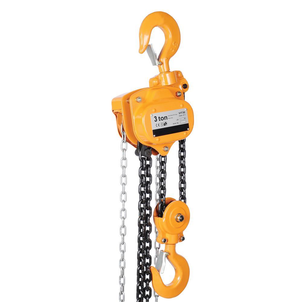 Vestil 3,000 Lbs. Capacity 15 Ft. Professional Chain Hoist