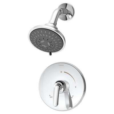 Elm 1-Handle 3-Spray Shower Faucet System in Chrome (Valve Included)