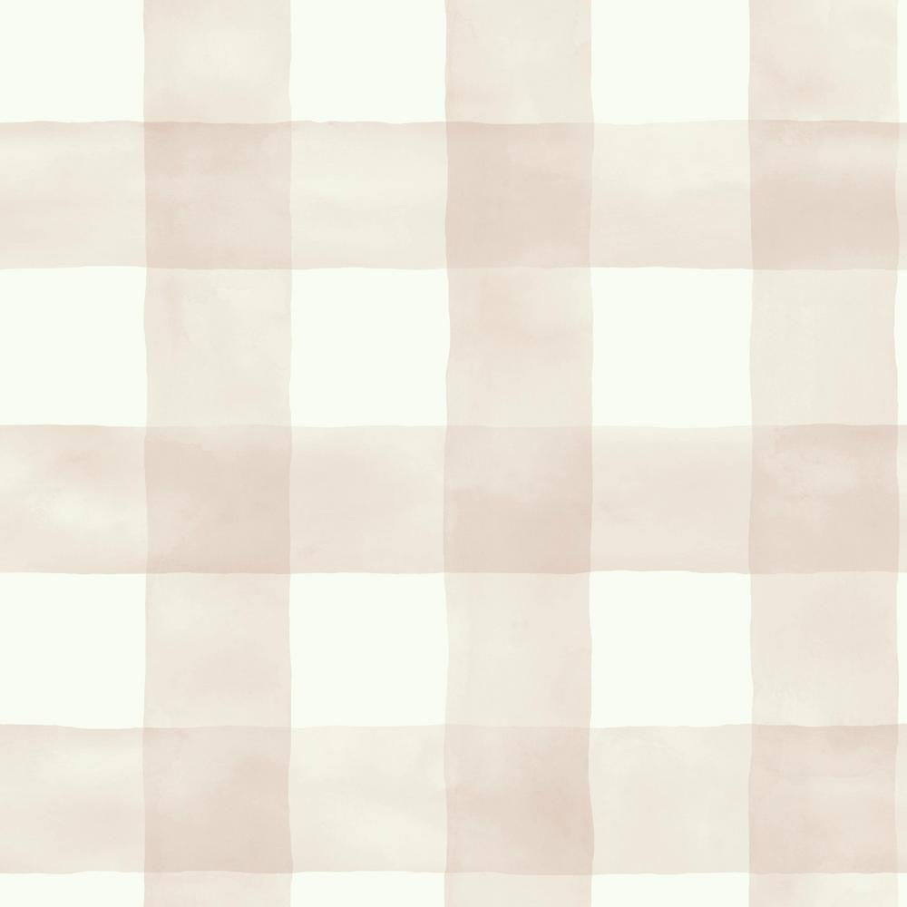 Magnolia Home By Joanna Gaines 56 Sq Ft Pink And White Watercolor Check Removable