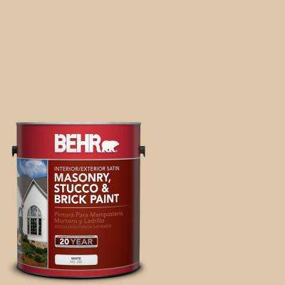 1 gal. #PPU4-13 Sand Motif Satin Interior/Exterior Masonry, Stucco and Brick Paint