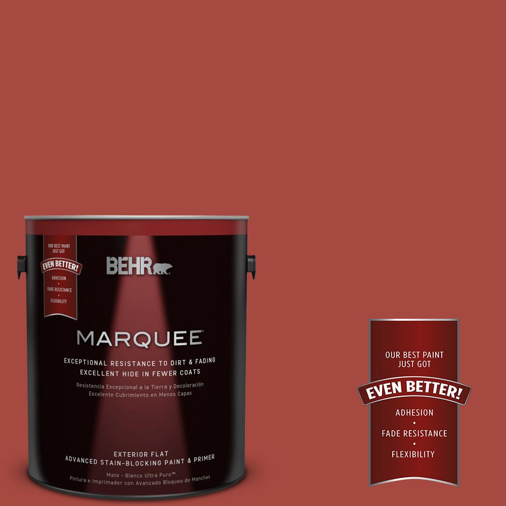 1-gal. #170D-7 Farmhouse Red Flat Exterior Paint