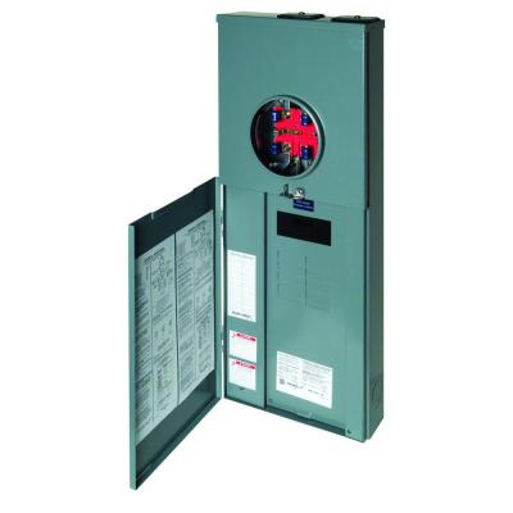 Homeline 150 Amp 8-Space 16-Circuit Outdoor Ringless-Horn Overhead/Underground Main Breaker CSED