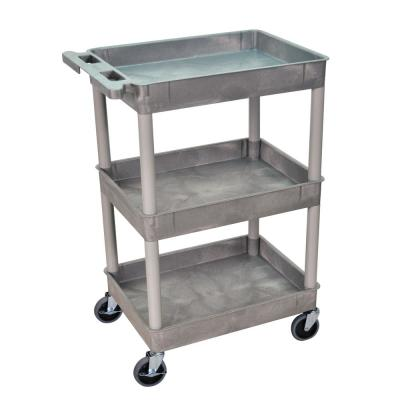 STC 24 in. Tub 3-Shelves Utility Cart