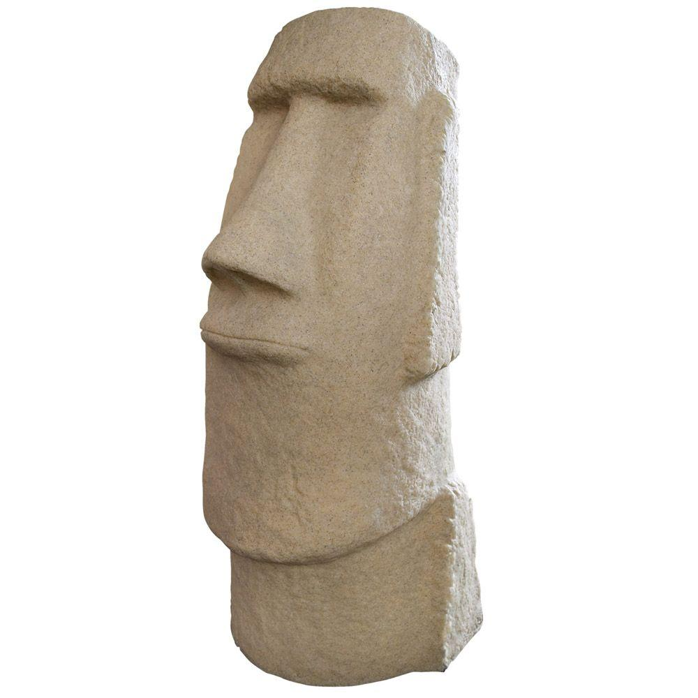 emsco easter island sandstone resin head statue - Resin Garden Statues