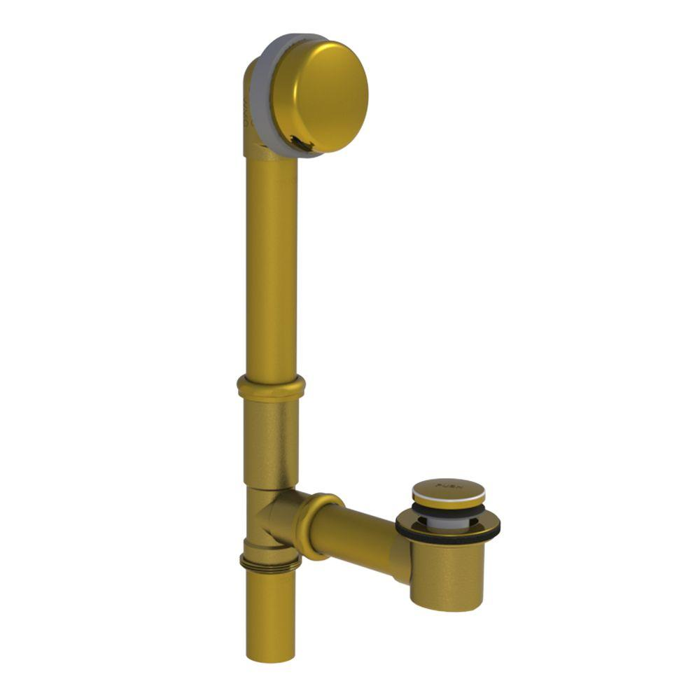 591 Series 16 in. Tubular Brass Bath Waste with Foot Actuated