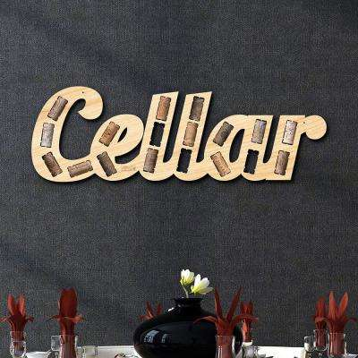 """Cellar Phrase Wine Cork Holder"" Wall Decor"